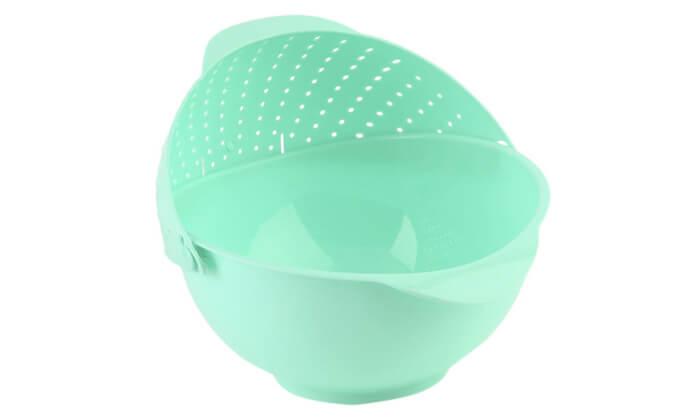 4 קערת פלסטיק עם מסננת מובנת