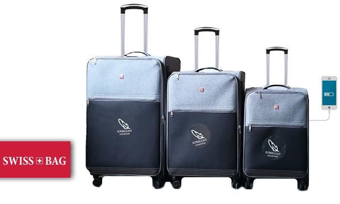 2 סט 3 מזוודותSWISS PREMIUM X9000