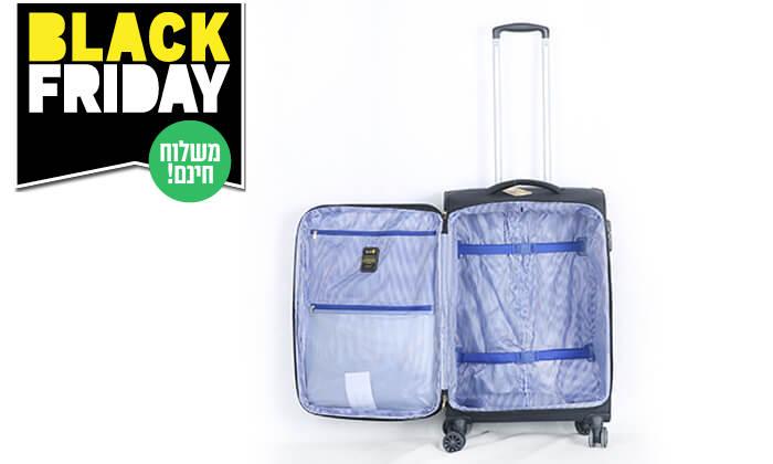 6 סט 3 מזוודותSWISS PREMIUM X9000 - משלוח חינם