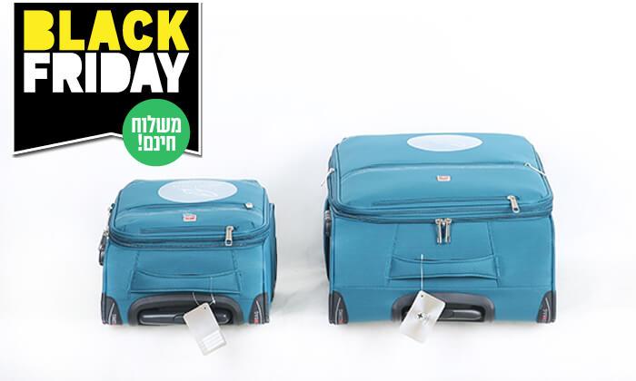 8 סט 3 מזוודותSWISS PREMIUM X9000 - משלוח חינם