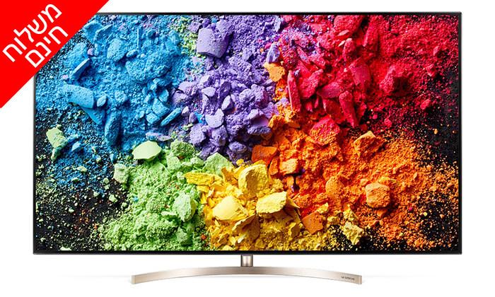 2 טלוויזיה SMART 4K LG, מסך 65 אינץ' - משלוח חינם ומנוי 3 חודשים לסלקום TV מתנה!