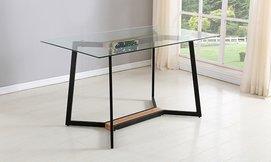 שולחן אוכל עם פלטת זכוכית