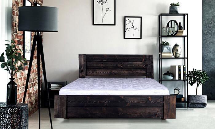 5 מיטה זוגית מעץ מלא