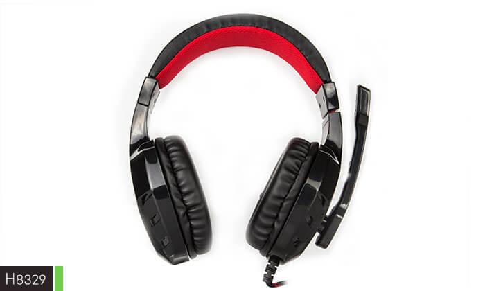 6 אוזניות גיימינג חוטיות עם מיקרופון - משלוח חינם