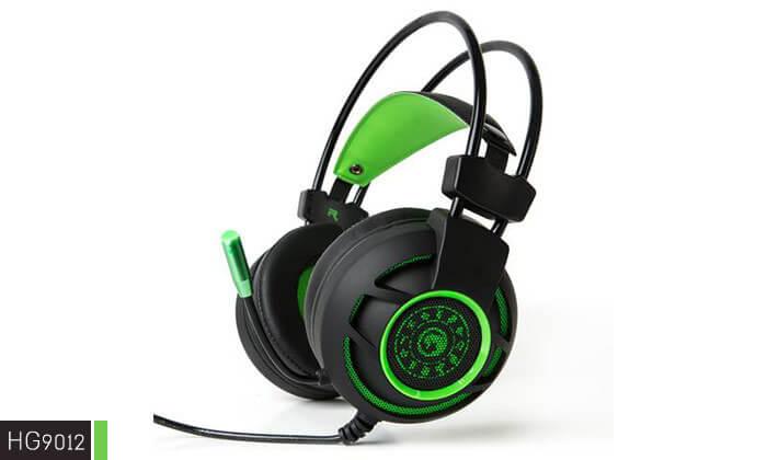 9 אוזניות גיימינג חוטיות עם מיקרופון - משלוח חינם
