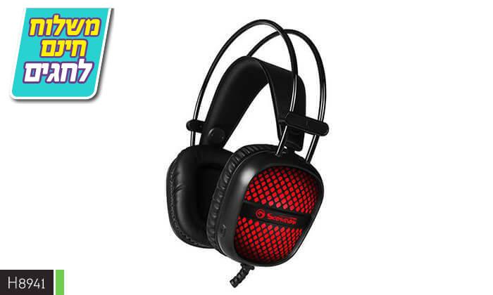 7 אוזניות גיימינג חוטיות עם מיקרופון - משלוח חינם