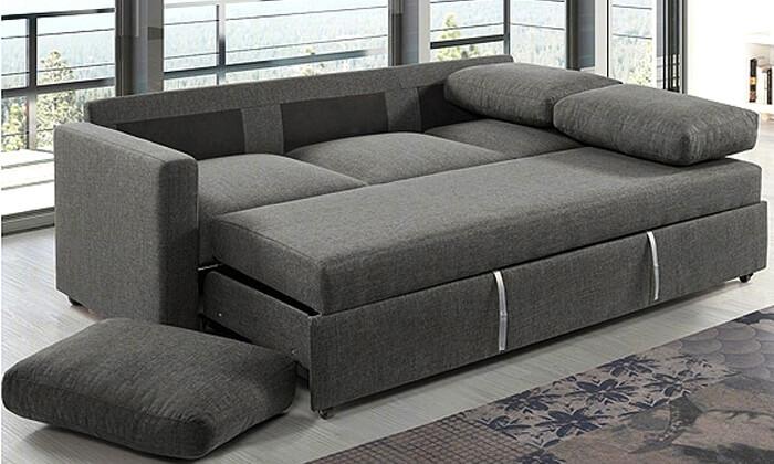 10 ספה תלת-מושבית נפתחת למיטה של שמרת הזורע