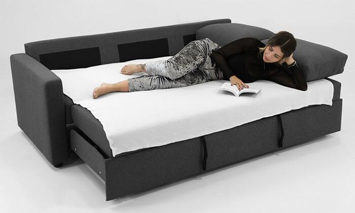 6 ספה תלת-מושבית נפתחת למיטה של שמרת הזורע