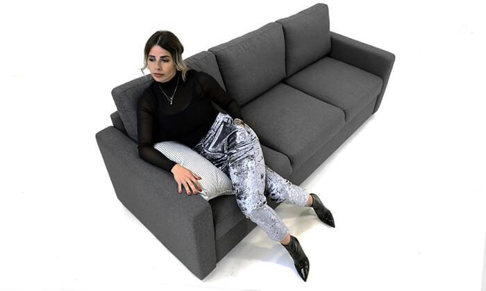 9 ספה תלת-מושבית נפתחת למיטה של שמרת הזורע