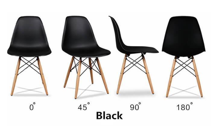 4 פינת אוכל עגולה מעץ עם כסאות