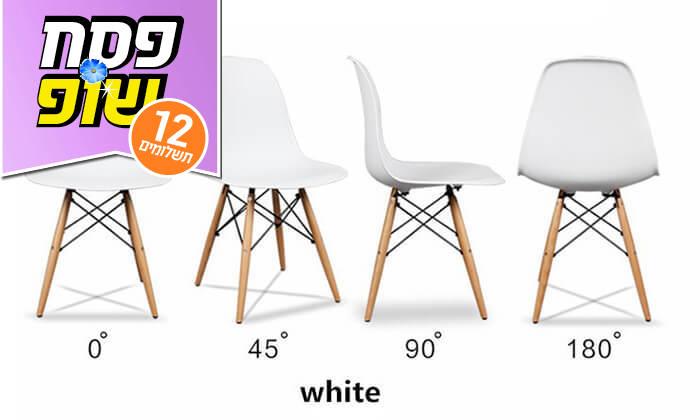 6 פינת אוכל עגולה מעץ עם כסאות