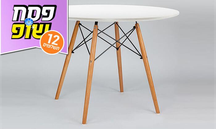 12 פינת אוכל עגולה מעץ עם כסאות