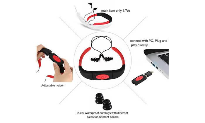 5 נגן מוסיקה MP3 לשחייה