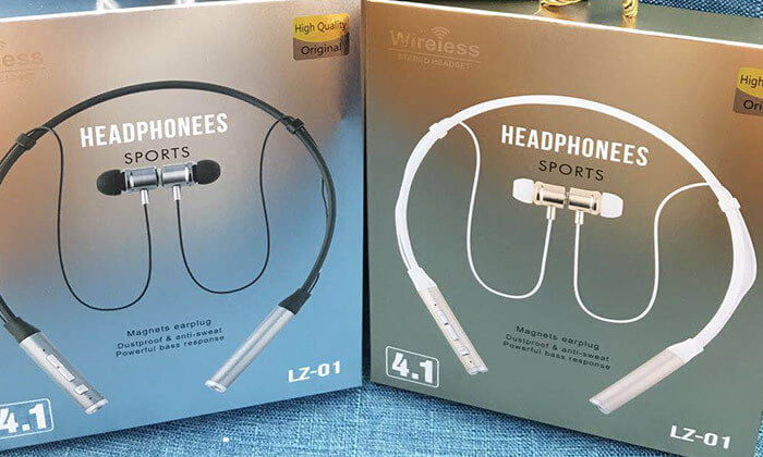 6 אוזניות ספורט אלחוטיות עם קשת עורף