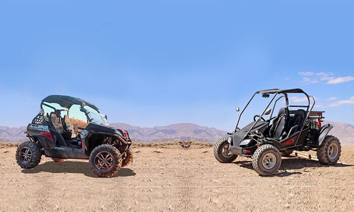 2 נהיגת שטח זוגית בבאגי באזור אילת