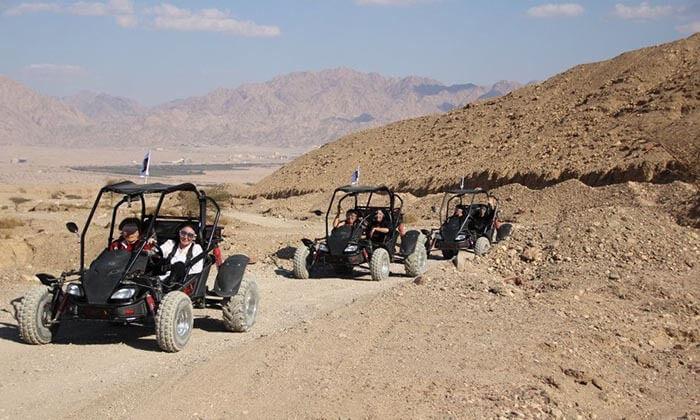 4 נהיגת שטח זוגית בבאגי באזור אילת