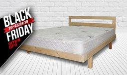 בסיס מיטה זוגית עם מזרן תואם