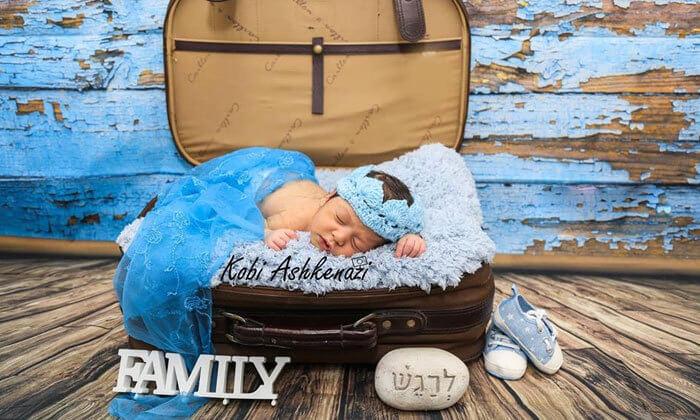 4 צילומי הריון משפחה או ניו בורן במטאור הפקות צילום