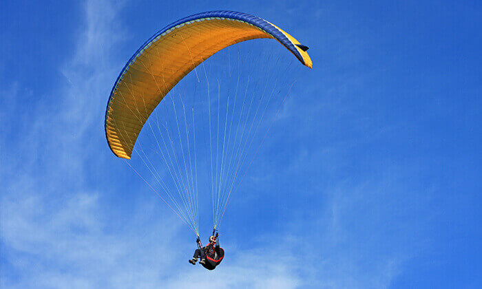 3 טיסה עם מצנח רחיפה, שמורת טבע השרון