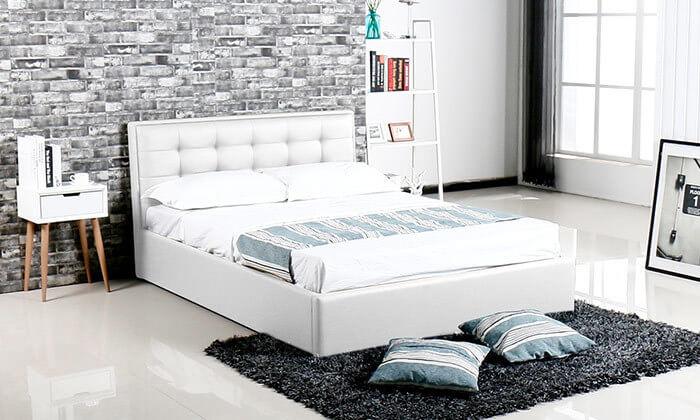 2 מיטה עם ארגז מצעים עשויה עץ ולביד Vitorio Divani