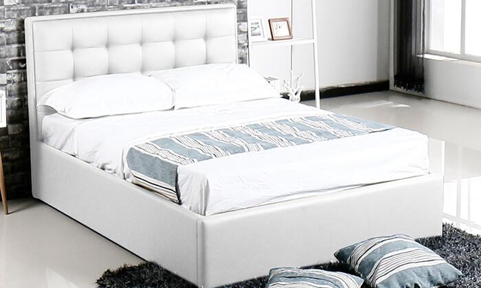 5 מיטה עם ארגז מצעים עשויה עץ ולביד Vitorio Divani