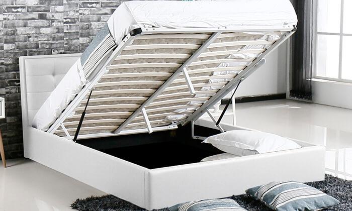 6 מיטה עם ארגז מצעים עשויה עץ ולביד Vitorio Divani