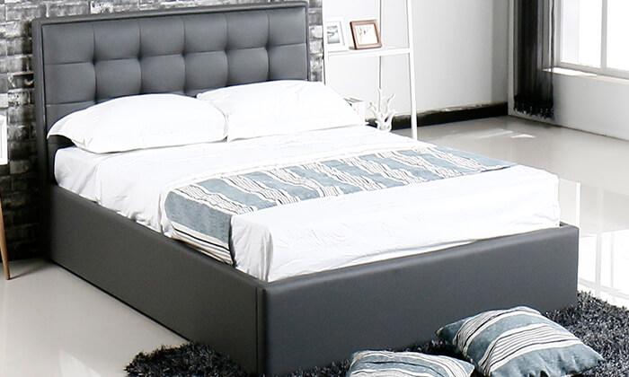 7 מיטה עם ארגז מצעים עשויה עץ ולביד Vitorio Divani