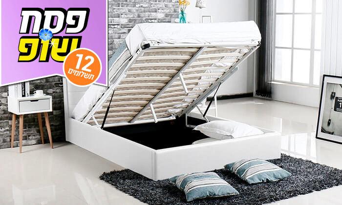 3 מיטה עם ארגז מצעים עשויה עץ ולביד Vitorio Divani