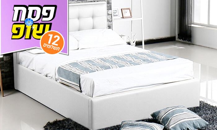 4 מיטה עם ארגז מצעים עשויה עץ ולביד Vitorio Divani