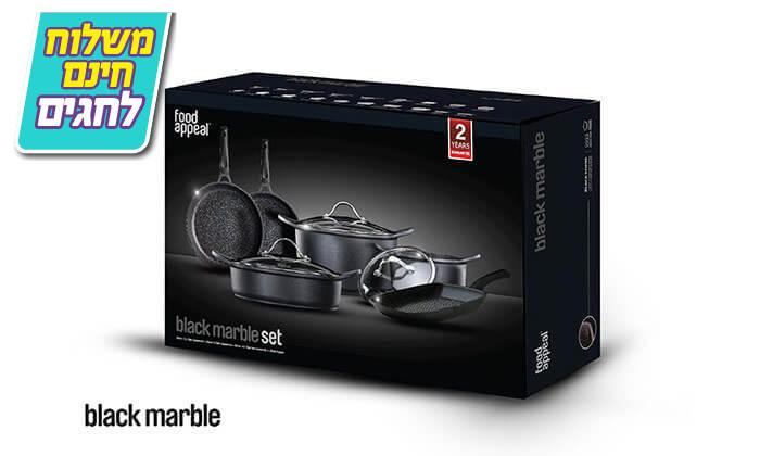 4 סט 9 חלקים food appeal מסדרת black marble - משלוח חינם!