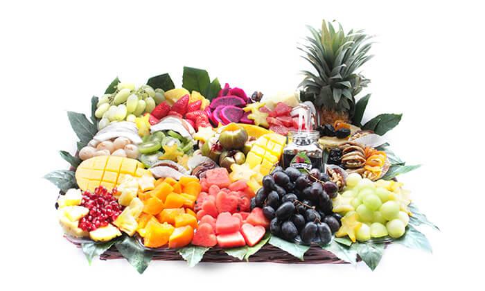 2 הזמנת סלסלאות ומגשי פירות אקזוטיים