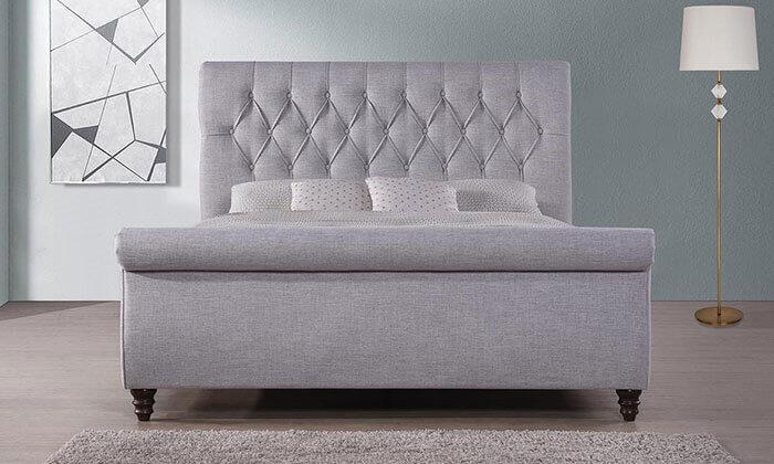 3 מיטה זוגית עם בסיס עץ מלא, הום דקור - HOME DECOR
