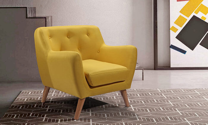 3 כורסה בעיצוב רטרו לסלון הום דקור - HOME DECOR