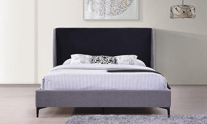 4  מיטה זוגית עם בסיס עץ מלא, הום דקור - HOME DECOR