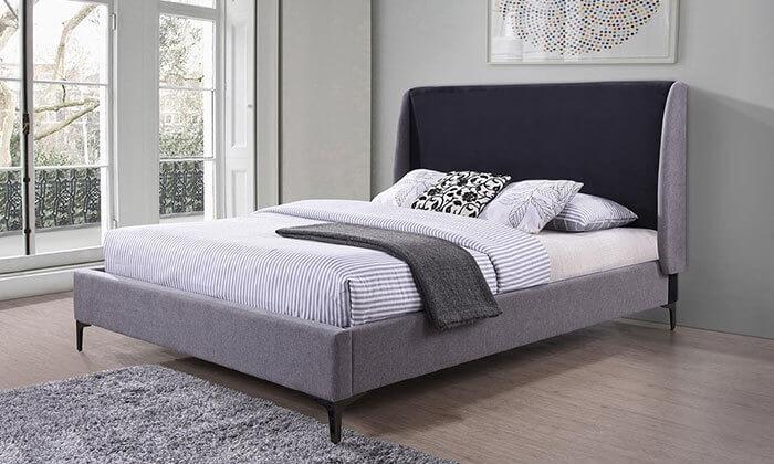 2  מיטה זוגית עם בסיס עץ מלא, הום דקור - HOME DECOR