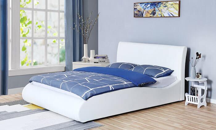 6 מיטה זוגית מרופדת HOME DECOR