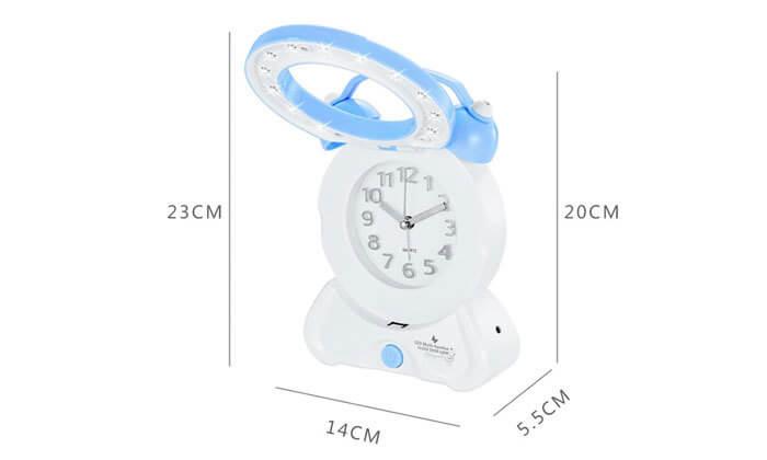 5 שעון מעורר משולב עם מנורת לילה