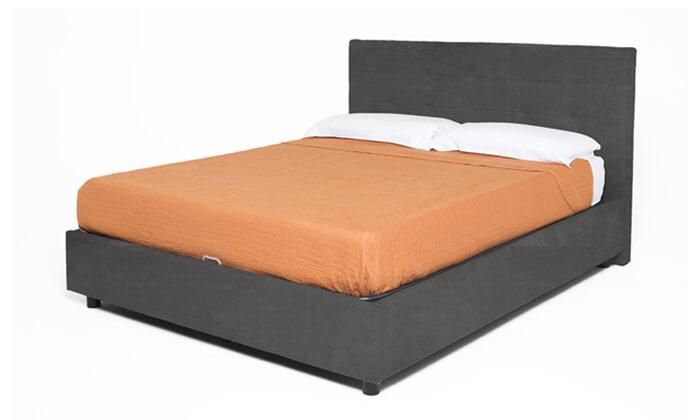 7 מיטת נוער מרופדת עם ארגז מצעים BRADEX