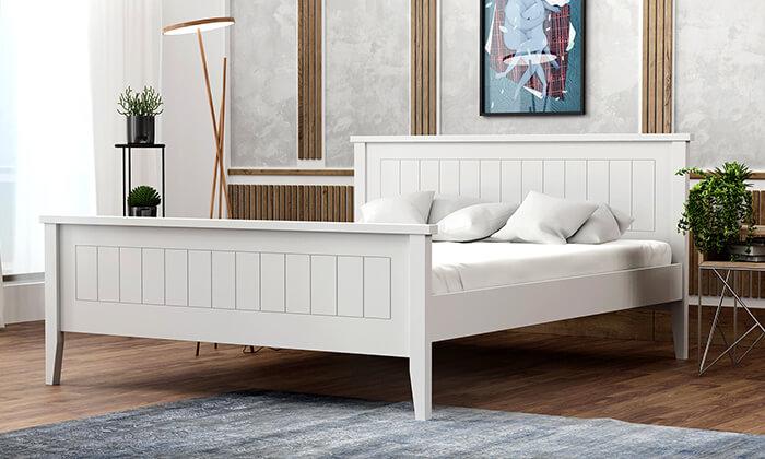4  שמרת הזורע - מיטה עם בסיס עץ מלא