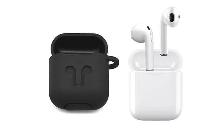 2 אוזניות Bluetooth אלחוטיות כולל נרתיק נשיאה מתנה