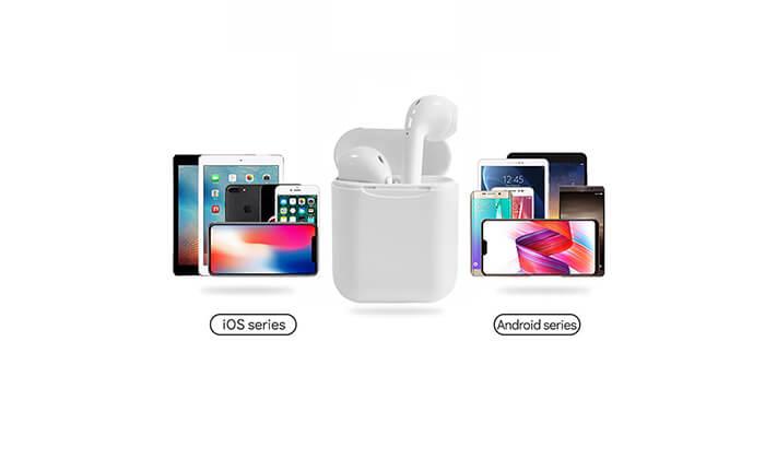 6 אוזניות Bluetooth אלחוטיות כולל נרתיק נשיאה מתנה