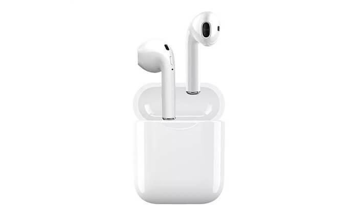 7 אוזניות Bluetooth אלחוטיות כולל נרתיק נשיאה מתנה