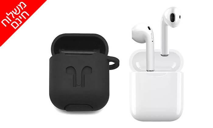 6 אוזניות Bluetooth אלחוטיות כולל נרתיק נשיאה מתנה - משלוח חינם