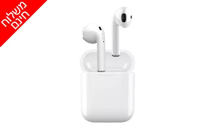 2 אוזניות Bluetooth אלחוטיות כולל נרתיק נשיאה מתנה - משלוח חינם