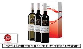 מארז שלושה בקבוקי יין