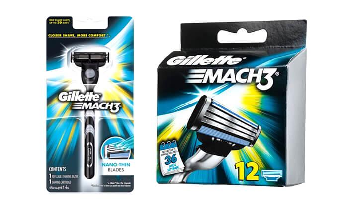 2 מארז 13 סכיני גילוח וידית Gillette Mach 3