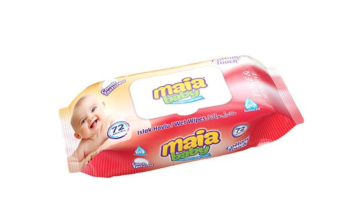 3 אריזת חיסכון הכוללת 24 חבילות מגבונים לתינוקות