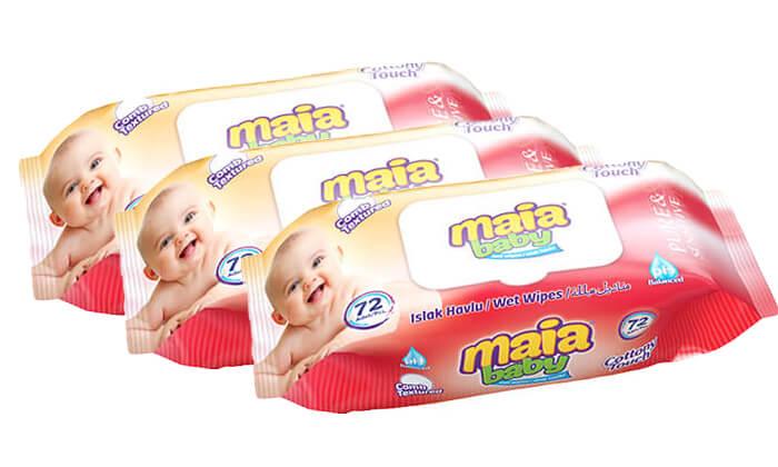 2 אריזת חיסכון הכוללת 24 חבילות מגבונים לתינוקות