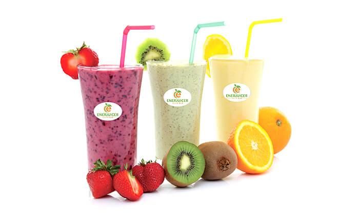5 משקה בריאות ב-Enerjuicer, בר משקאות הבריאות והמיצים הטבעיים בכיכר רבין