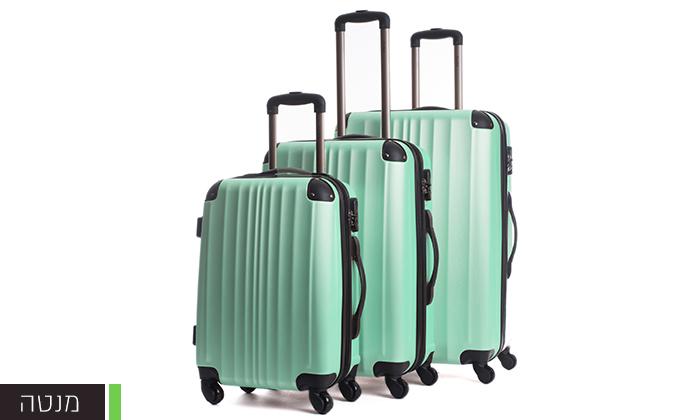 7  סט 3 מזוודות קשיחות CalPak